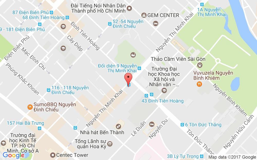 Vị trí bản đồ 11C Nguyễn Thị Minh Khai, P. Bến Nghé Quận 1 TP. HCM