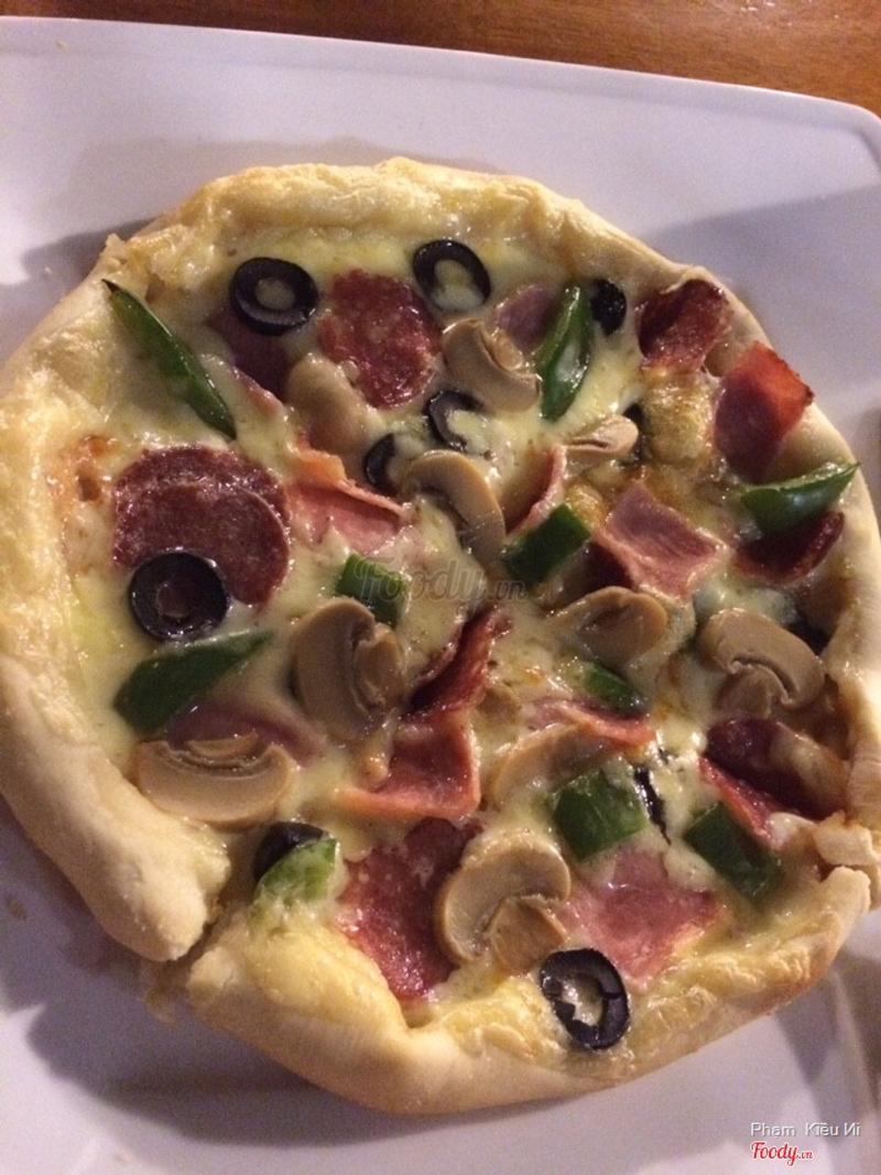 Pizza thịt nấm