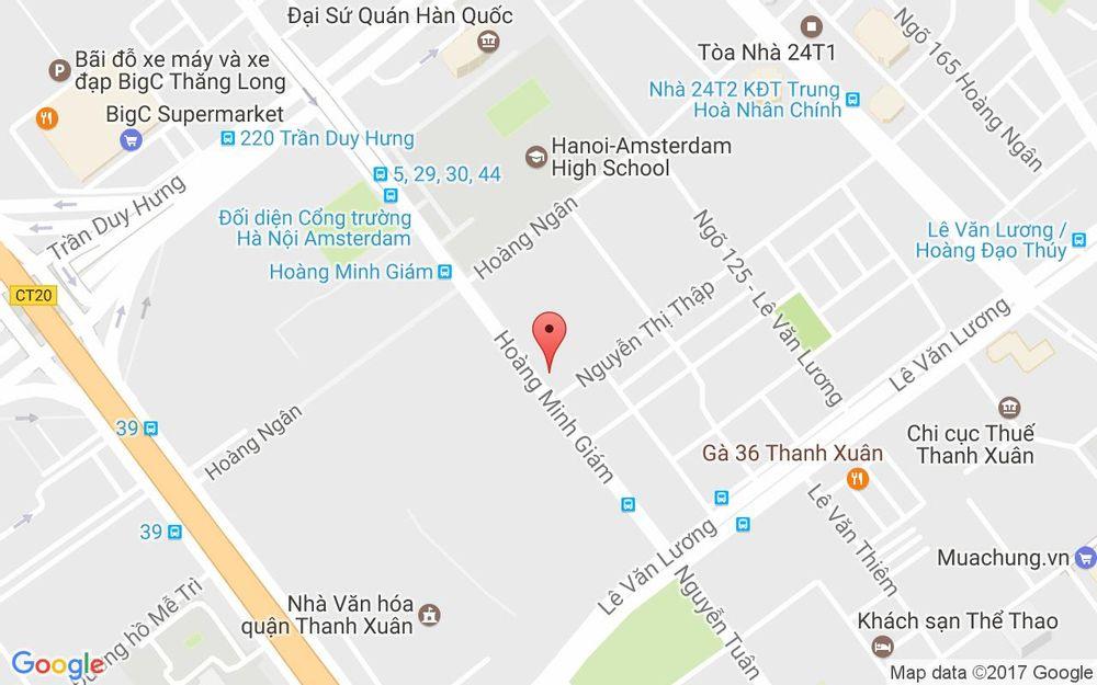 Vị trí bản đồ D5 Mandarin Garden Hoàng Minh Giám Quận Thanh Xuân Hà Nội