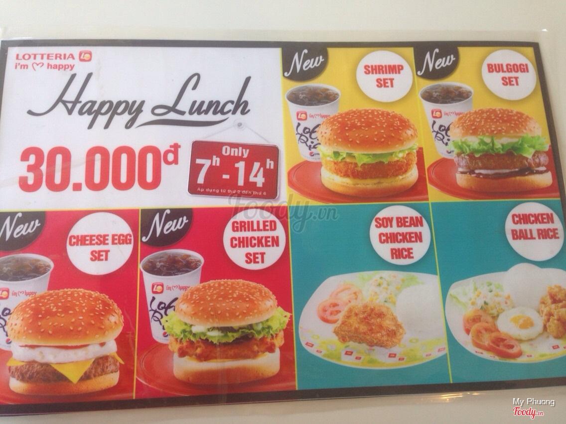 Lotteria Tn An Quc L 1a Tp Long Menu Thc N Chicken Burger Set Xem Tt C Nh