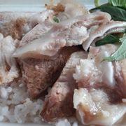 Cơm thịt luộc
