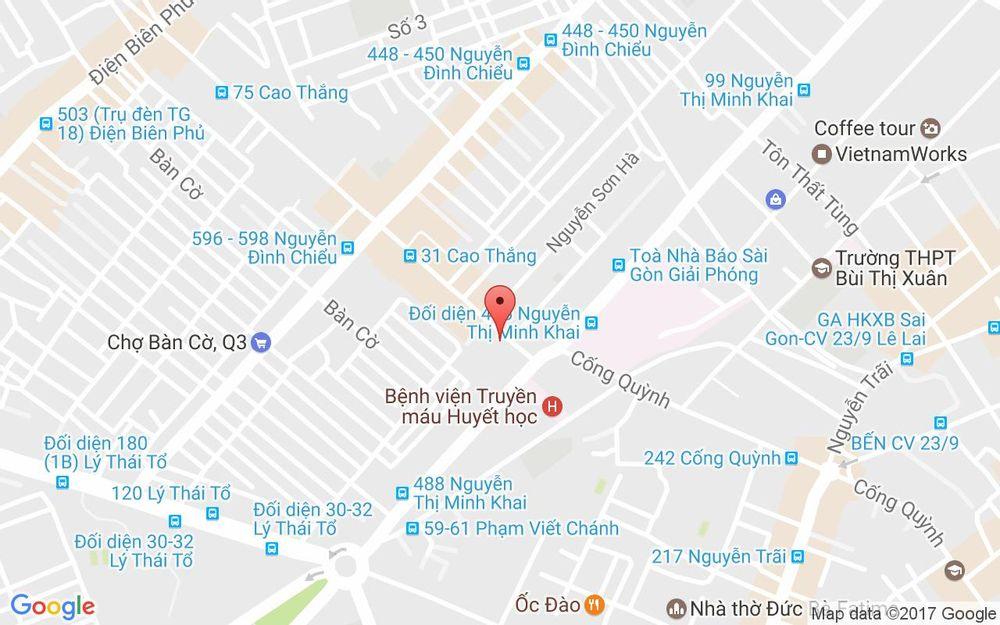 Vị trí bản đồ 19 Cao Thắng Quận 3 TP. HCM