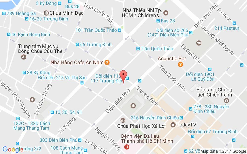 Vị trí bản đồ Phẫu Thuật Thẩm Mỹ - BS. Ngô Mộng Hùng ở TP. HCM