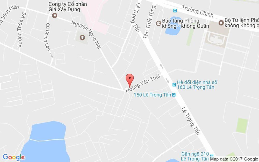 Vị trí bản đồ 58 Hoàng Văn Thái Quận Thanh Xuân Hà Nội