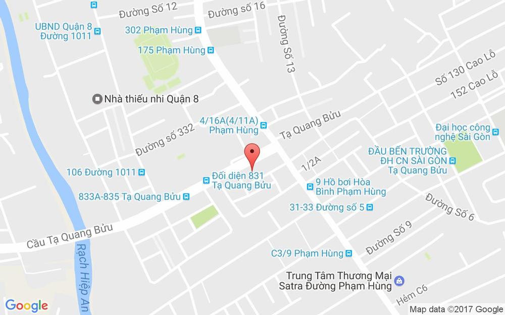 Vị trí bản đồ 801B Tạ Quang Bửu, P. 5 Quận 8 TP. HCM