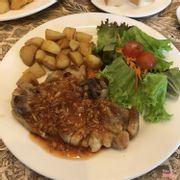 steak gà sốt nấm