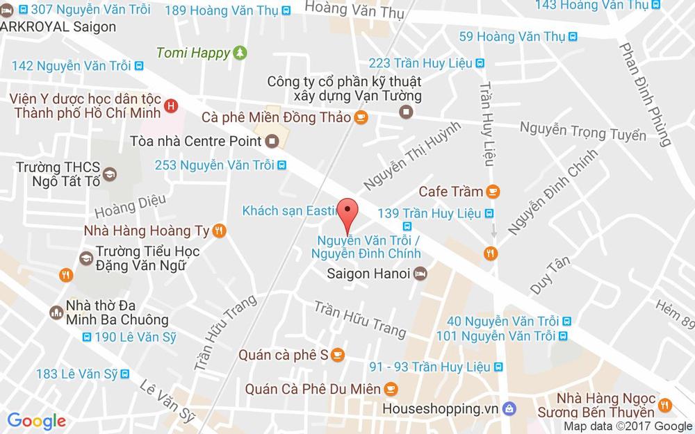 Vị trí bản đồ 164 Nguyễn Đình Chính, P. 11 Quận Phú Nhuận TP. HCM