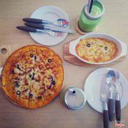 pizza + pasta đút lò