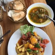 Khoai tây chiên bò lúc lắc❤️❤️❤️bánh mì bò kho