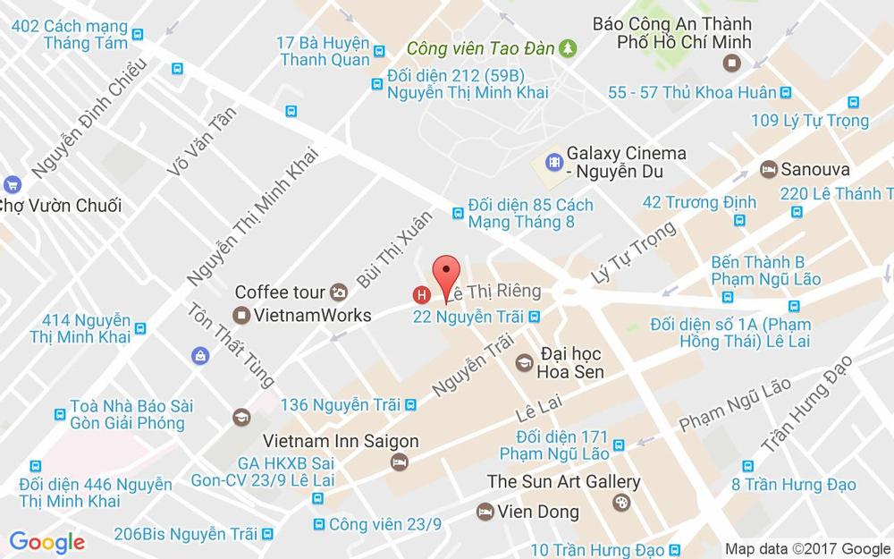 Vị trí bản đồ 57 Lê Thị Riêng Quận 1 TP. HCM
