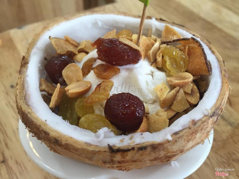 Kem xôi dừa truyền thống