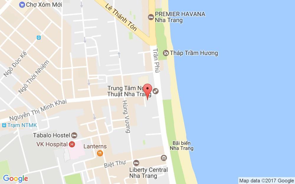 Vị trí bản đồ 46 Trần Phú Tp. Nha Trang Khánh Hoà