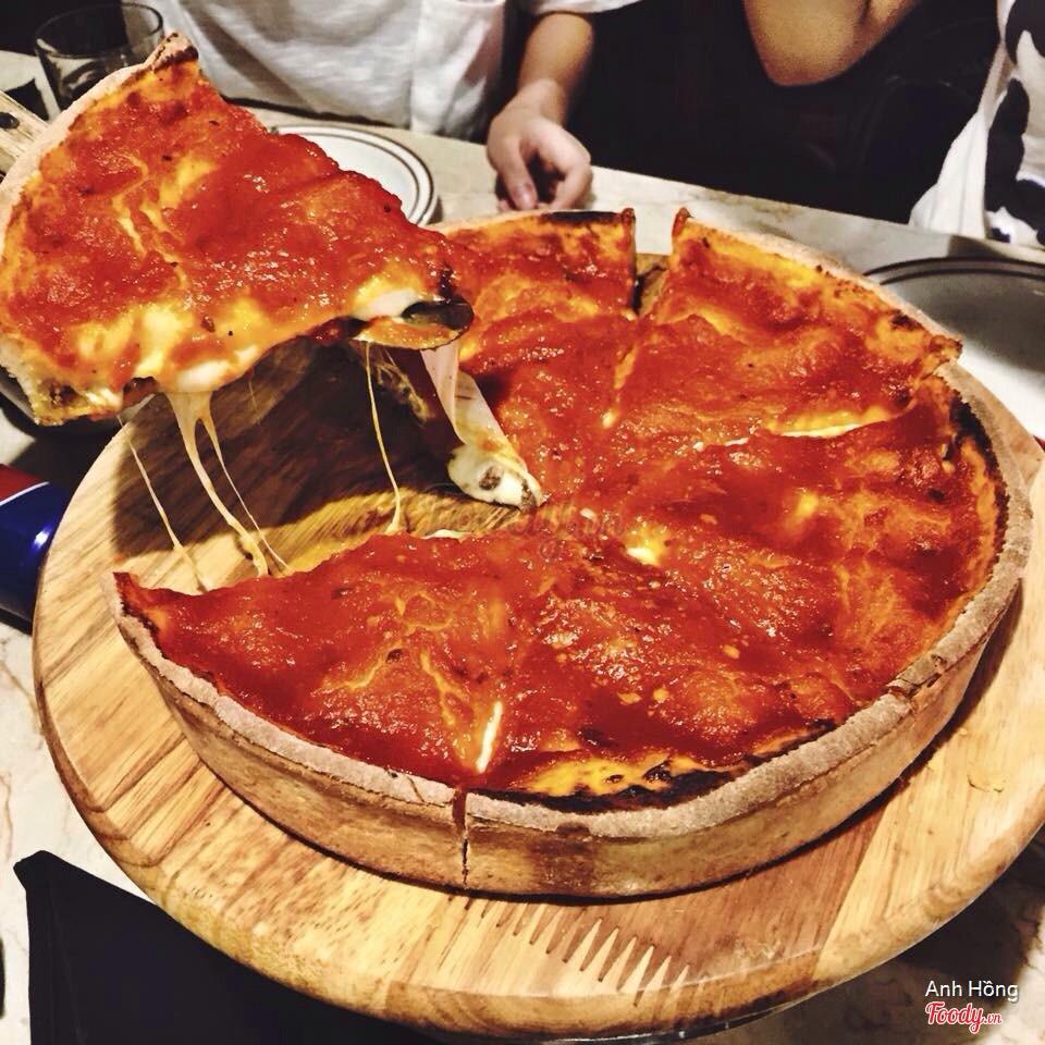 Pizza nhồi phô mai