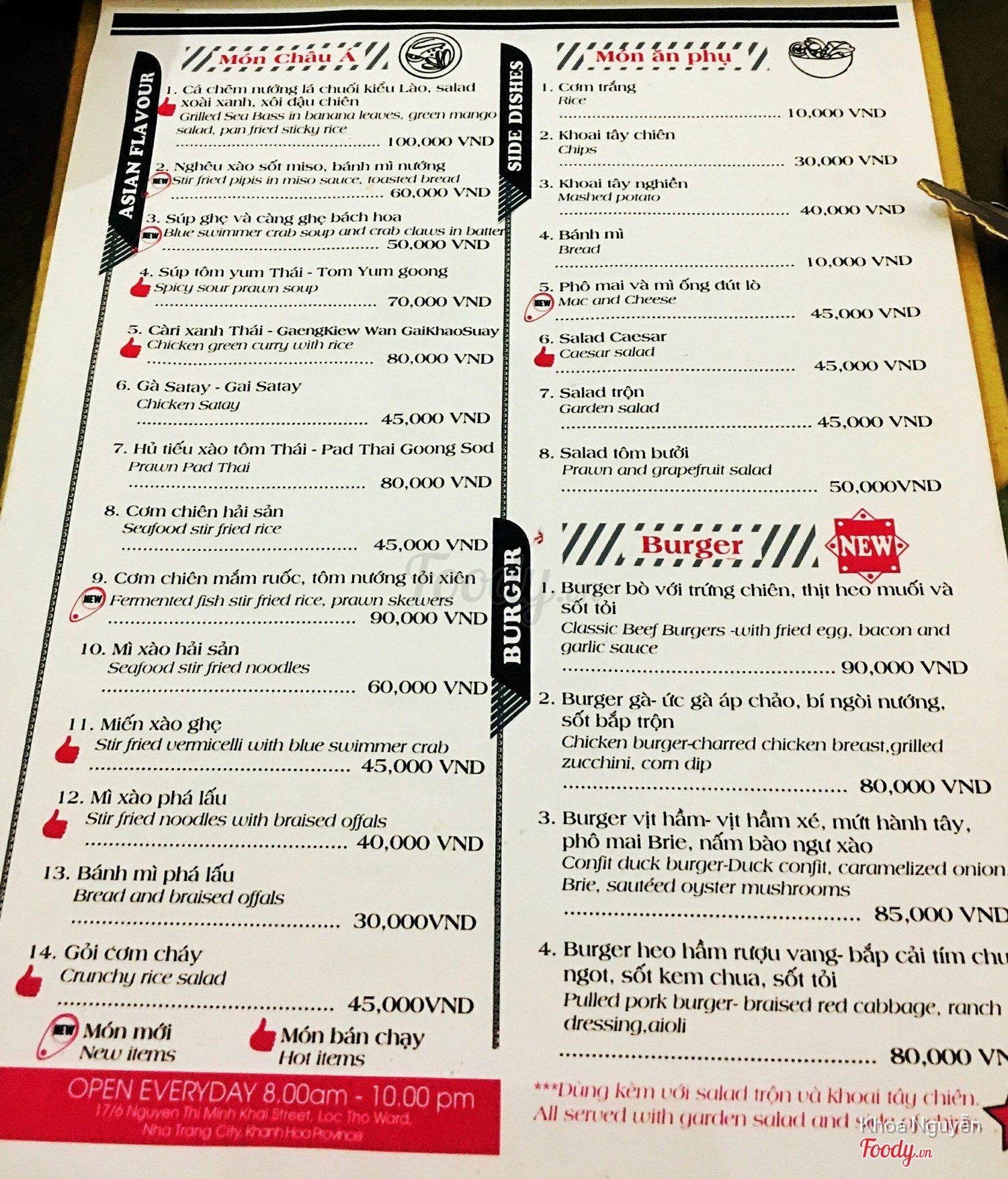 Kết quả hình ảnh cho nom nom restaurant menu