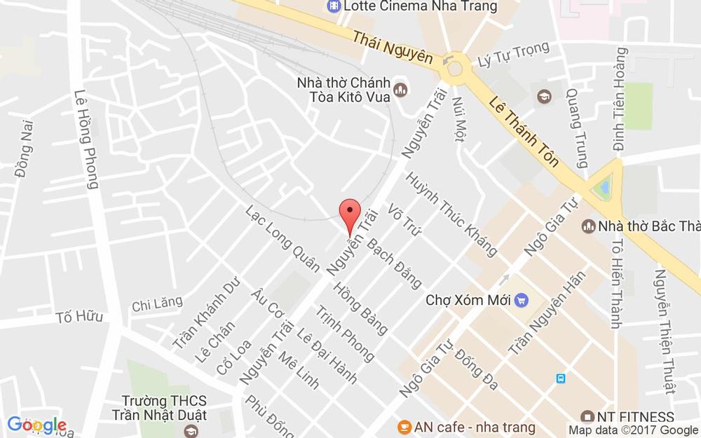 Vị trí bản đồ Hẻm 102 Nguyễn Trãi Tp. Nha Trang Khánh Hoà