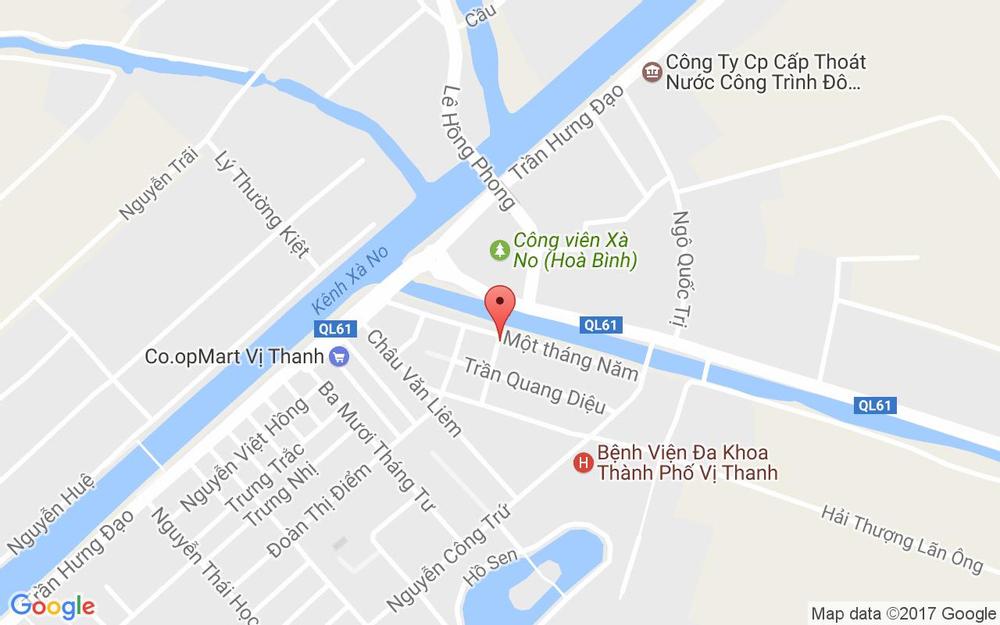 Vị trí bản đồ 28 Đường 1 Tháng 5, P. 1 Thành Phố Vị Thanh Hậu Giang