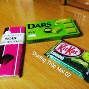 Chocolat Noir ( Kẹo Sôcôla ) - Sôcôla trà xanh Dars ( Morinaga ) - Kẹo sôcôla trà xanh KitKat