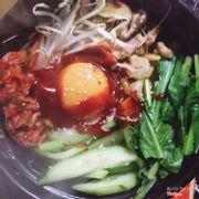 Cơm trộn gà kimchi hàn quốc : 30k