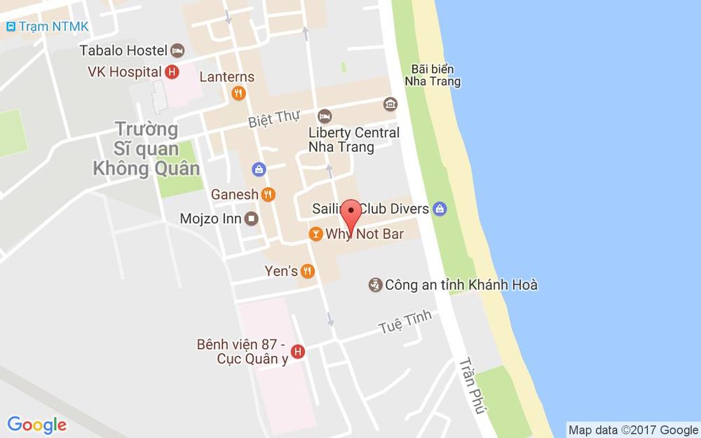 Vị trí bản đồ 35 Trần Quang Khải, P. Lộc Thọ Tp. Nha Trang Khánh Hoà