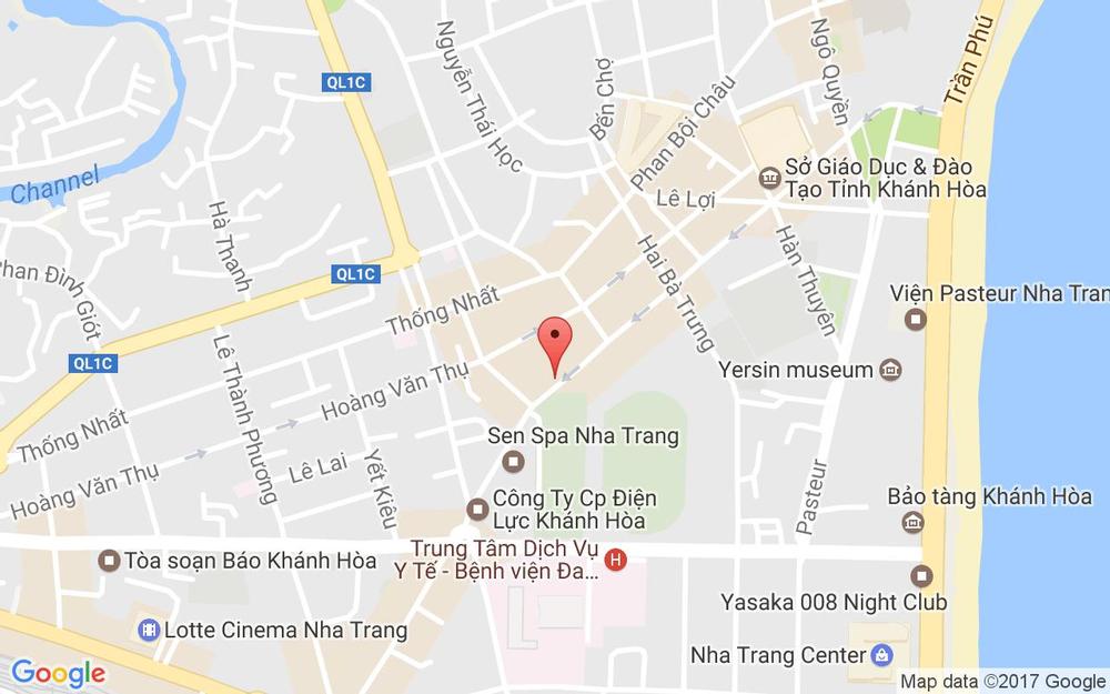 Vị trí bản đồ 5A Phan Chu Trinh Tp. Nha Trang Khánh Hoà