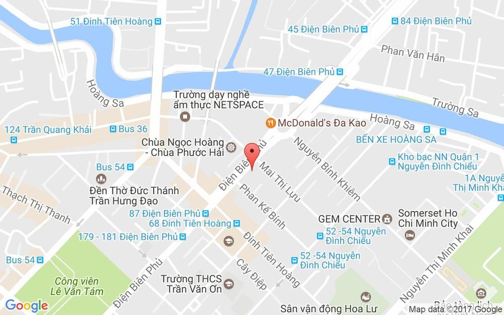 Vị trí bản đồ 33 Điện Biên Phủ Quận 1 TP. HCM