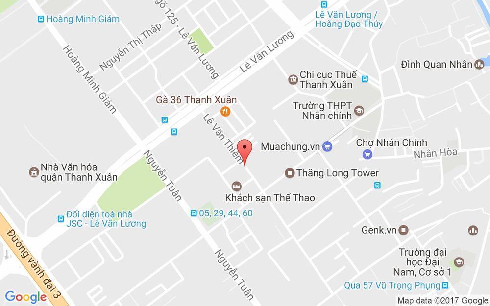 Vị trí bản đồ Sport Hotel, Hacinco, 9 Lê Văn Thiêm Quận Thanh Xuân Hà Nội
