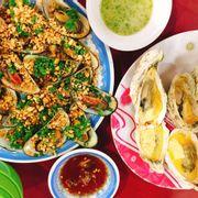 Hàu phô mai + sò nướng mỡ hành