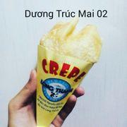 Bánh Crepe Cuộn nhân ngọt