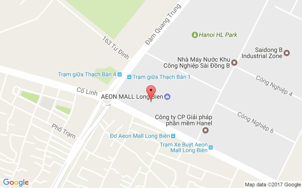Vị trí bản đồ CGV Cinemas - AEON Mall Long Biên ở Hà Nội