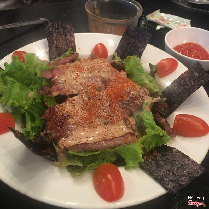 thịt bò sốt trứng cá