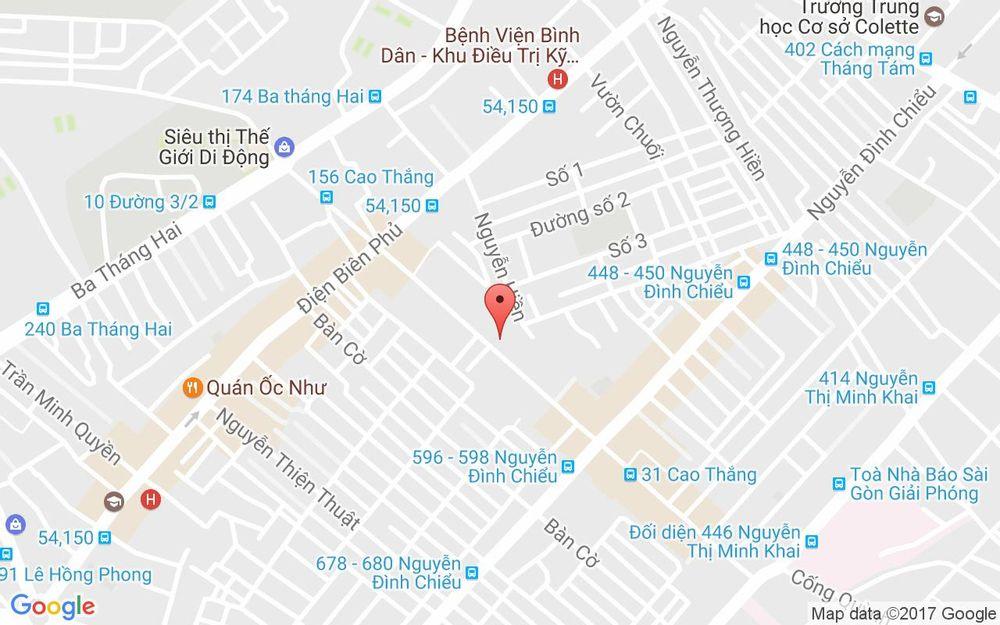 Vị trí bản đồ 96 Cao Thắng, P. 4 Quận 3 TP. HCM