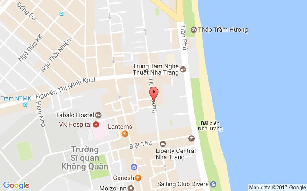 Vị trí bản đồ 67/4 Hùng Vương, P. Lộc Thọ Tp. Nha Trang Khánh Hoà
