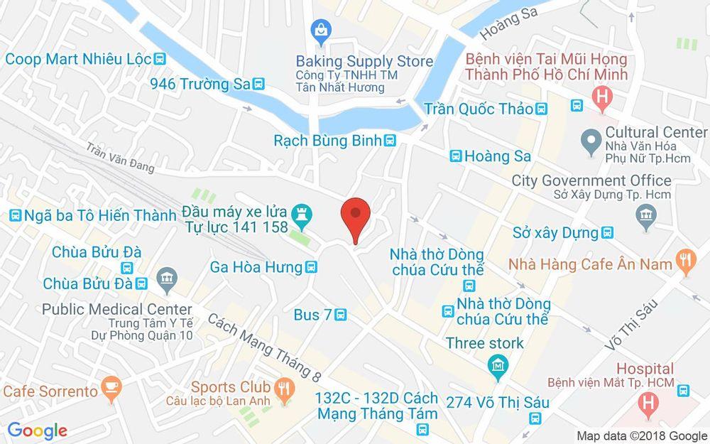 Vị trí bản đồ 25 Trần Văn Đang, P. 9 Quận 3 TP. HCM