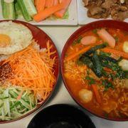Set cơm trộn + mì kim chi + 2 trà chanh