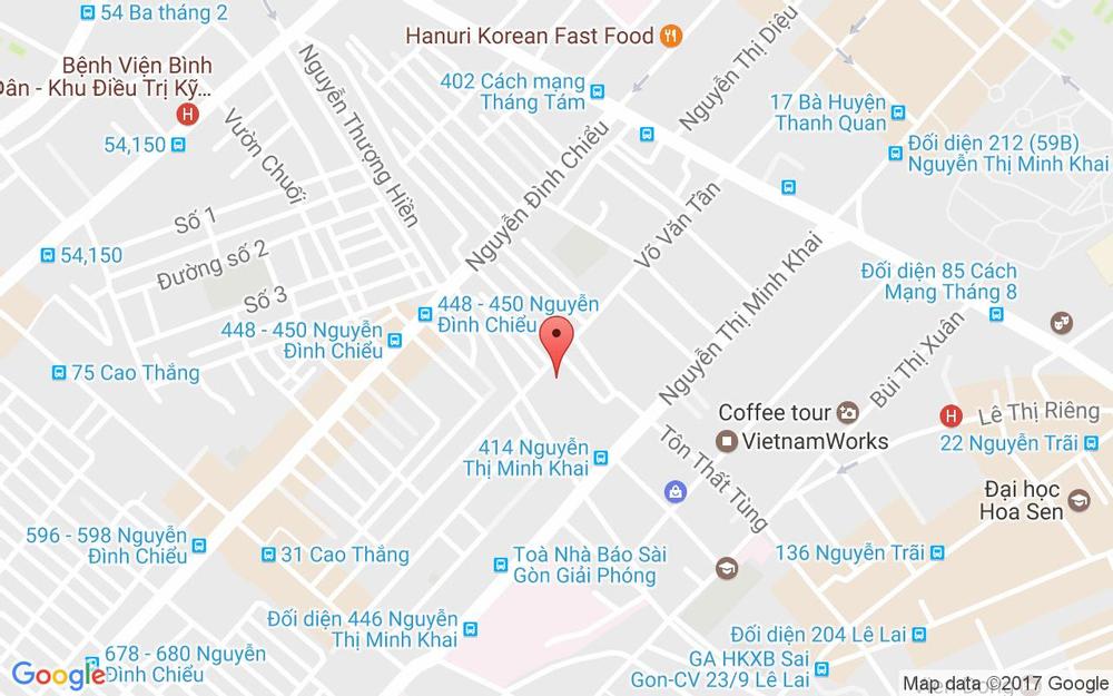 Vị trí bản đồ 309 Võ Văn Tần Quận 3 TP. HCM