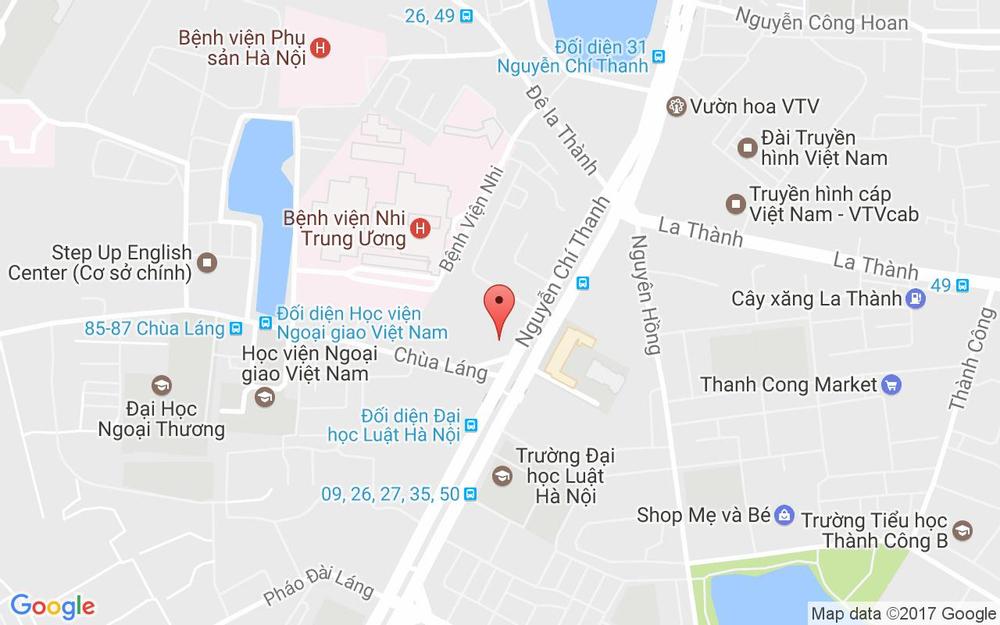 Vị trí bản đồ CGV Vincom Nguyễn Chí Thanh ở Hà Nội
