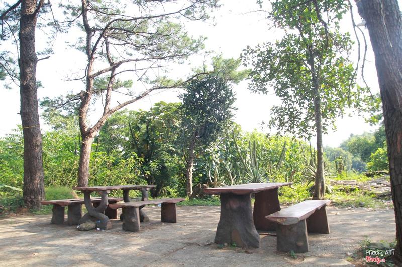 Cạnh vườn xương rồng có nơi nghỉ chân, ăn trưa