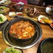 Lẩu kimchi của combo thịt
