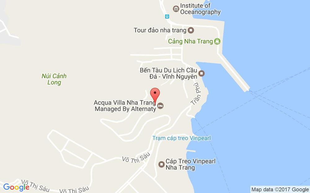 Vị trí bản đồ Trần Phú Tp. Nha Trang Khánh Hoà