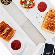 Chicken stuffed waffles & Tuna stuffed waffles