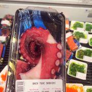 bạch tuộc sashimi