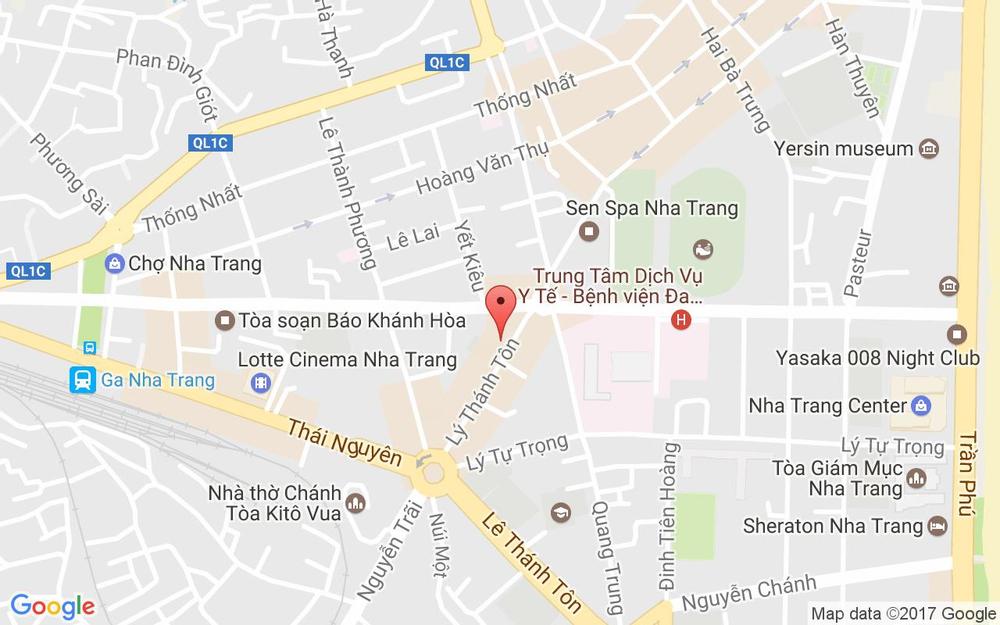 Vị trí bản đồ 46 - 48 Lý Thánh Tôn Tp. Nha Trang Khánh Hoà
