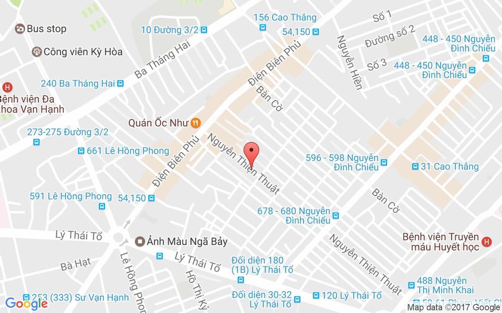 Vị trí bản đồ 237 - 239 Nguyễn Thiện Thuật Quận 3 TP. HCM