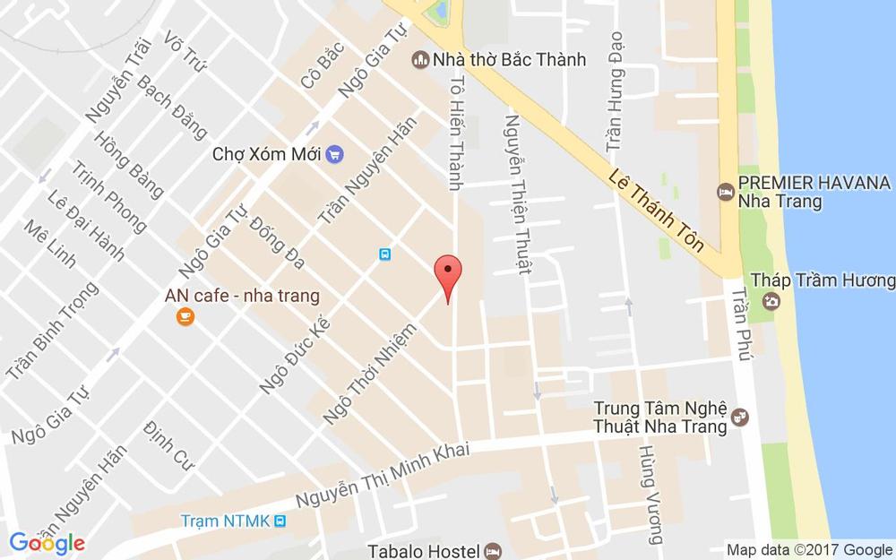Vị trí bản đồ 14A Tô Hiến Thành  Tp. Nha Trang Khánh Hoà