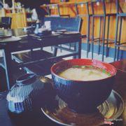 Soup miso với nhiều nghêu lắm...