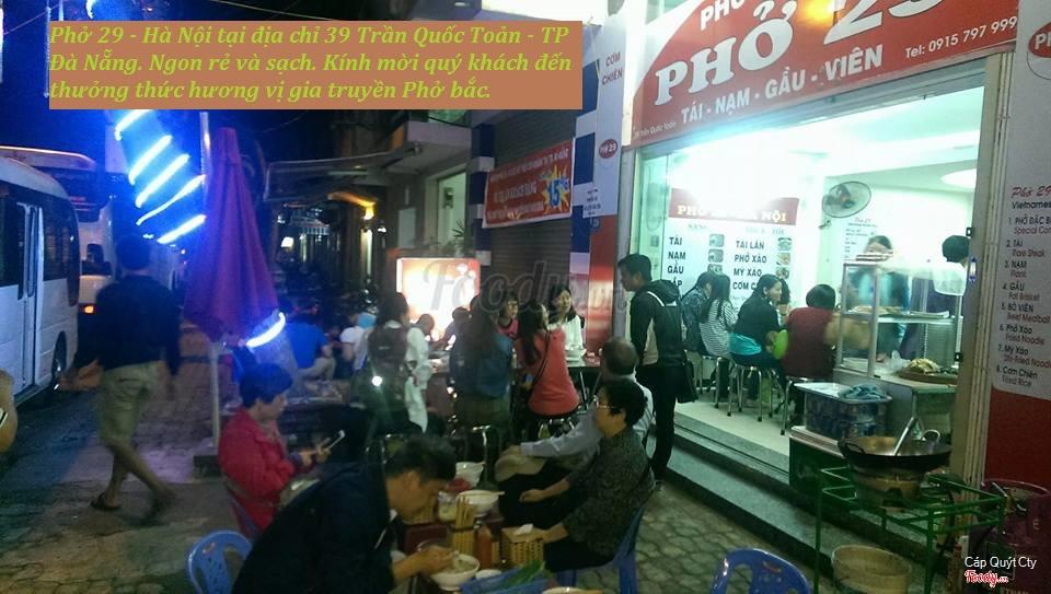 Phở ngon tại 39 Trần Quốc Toản - TP Đà Nẵng