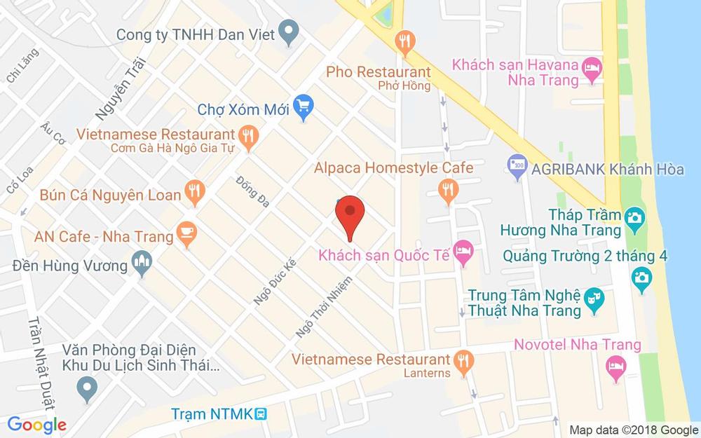 Vị trí bản đồ 77 Bạch Đằng Tp. Nha Trang Khánh Hoà