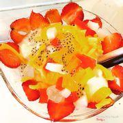 Sữa chua mít và dâu