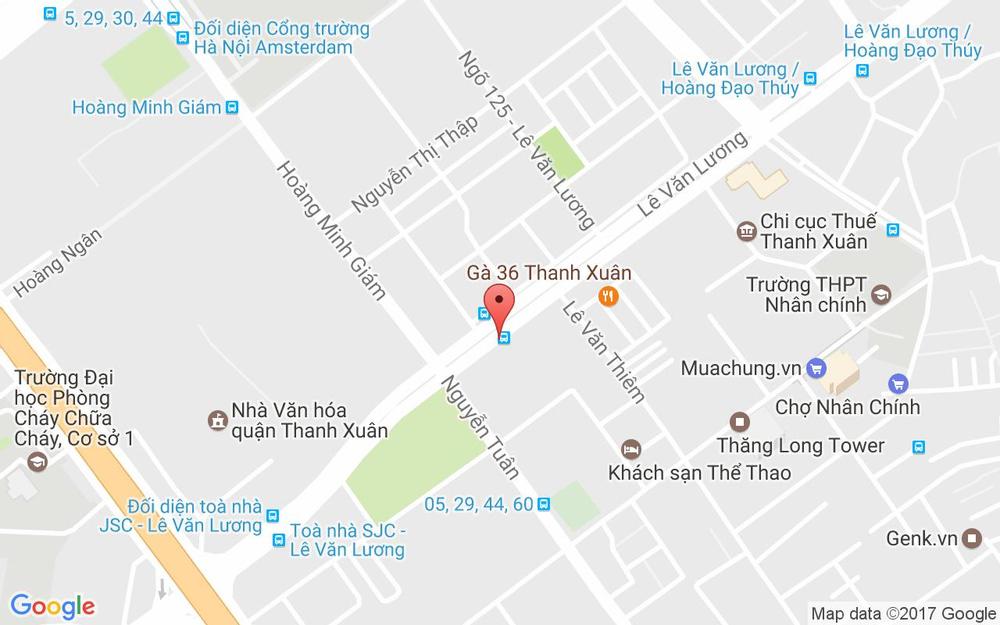 Vị trí bản đồ N2E Lê Văn Lương   Quận Thanh Xuân Hà Nội