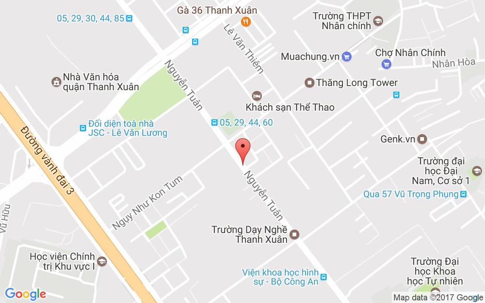 Vị trí bản đồ 182 Nguyễn Tuân  Quận Thanh Xuân Hà Nội